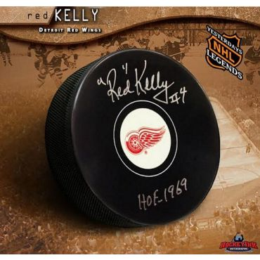 Red Kelly Detroit Red Wings Autographed Hockey Puck