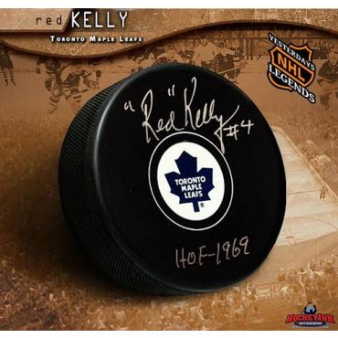 Red Kelly Toronto Maple Leafs Autographed Hockey Puck