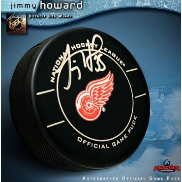 Jimmy Howard Detroit Red Wings Autographed Official Game Hockey Puck