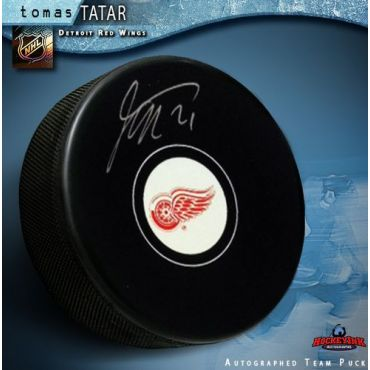 Tomas Tatar Detroit Red Wings Autographed Hockey Puck