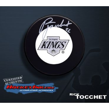 Rick Tocchet Los Angeles Kings Autographed Hockey Puck