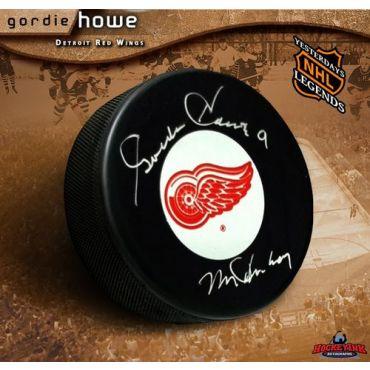 Gordie Howe Autographed Hockey Puck