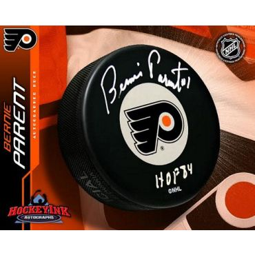 Bernie Parent Philadelphia Flyers Autographed Hockey Puck