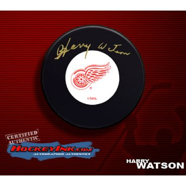 Harry Watson Autographed Hockey Puck