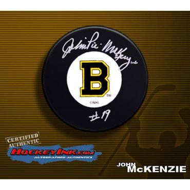 John McKenzie Autographed Hockey Puck