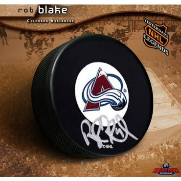 Rob Blake Colorado Avalanche Autographed Puck