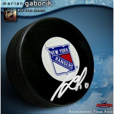 Marian Gaborik New York Rangers Autographed Hockey Puck