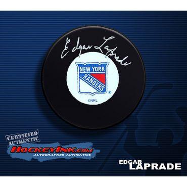 Edgar Laprade Autographed Hockey Puck