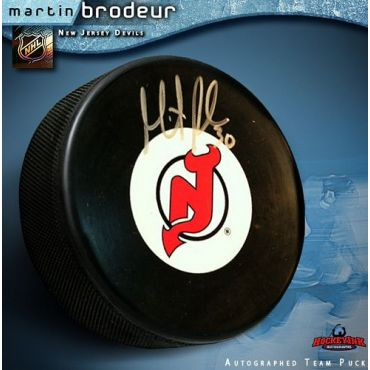 Martin Brodeur Autographed New Jersey Devils Hockey Puck