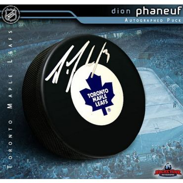 Dion Phaneuf Toronto Maple Leafs Autographed Hockey Puck