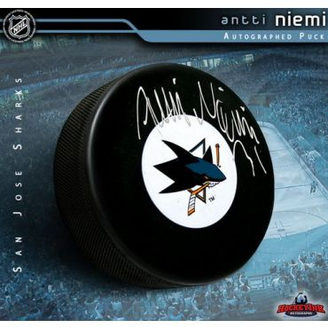 Antti Niemi San Jose Sharks Autographed Hockey Puck