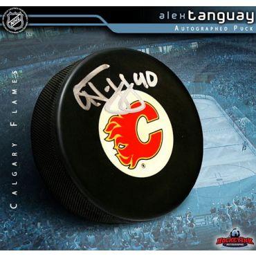 Alex Tanguay Calgary Flames Autographed Hockey Puck