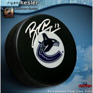 Ryan Kesler Vancouver Canucks Autographed Hockey Puck