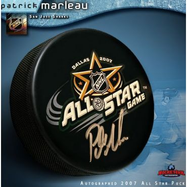 Patrick Marleau 2007 All Star Game Autographed Hockey Puck