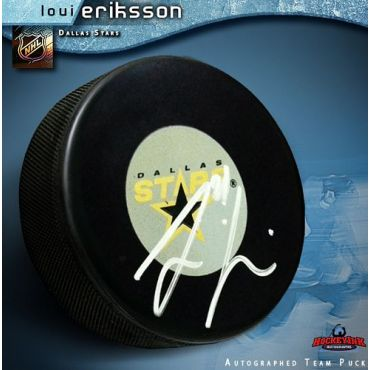 Loui Eriksson Dallas Stars Autographed Hockey Puck