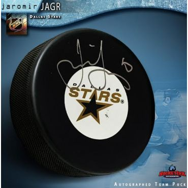 Jaromir Jagr Dallas Stars Autographed Hockey Puck
