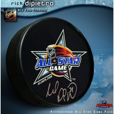 Rick DiPietro New York Islanders Autographed 2008 All Star Game Hockey Puck