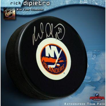 Rick DiPietro New York Islanders Autographed Hockey Puck
