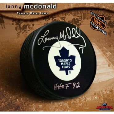 Lanny McDonald Toronto Maple Leafs Autographed Hockey Puck