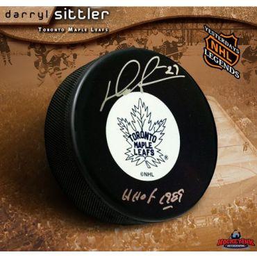 Darryl Sittler Toronto Maple Leafs Autographed Original 6 Hockey Puck