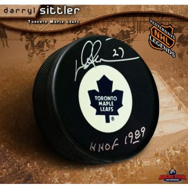 Darryl Sittler Toronto Maple Leafs Autographed Hockey Puck