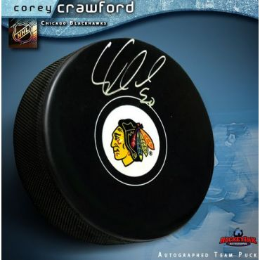 Corey Crawford Chicago Blackhawks Autographed Hockey Puck