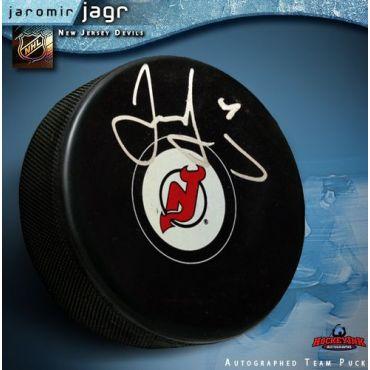 Jaromir Jagr New Jersey Devils Autographed Hockey Puck