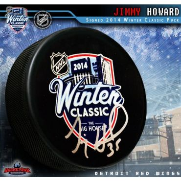 Jimmy Howard 2014 Winter Classic Autographed Hockey Puck