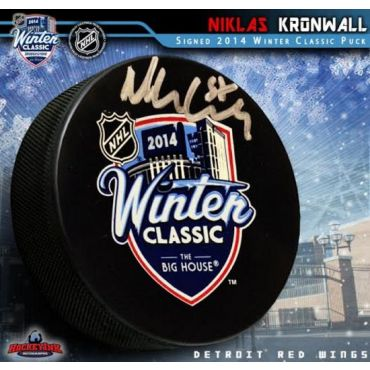 Niklas Kronwall Detroit Red Wings 2014 Winter Classic Autographed Hockey Puck