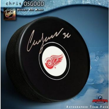 Chris Osgood Detroit Red Wings Autographed Hockey Puck