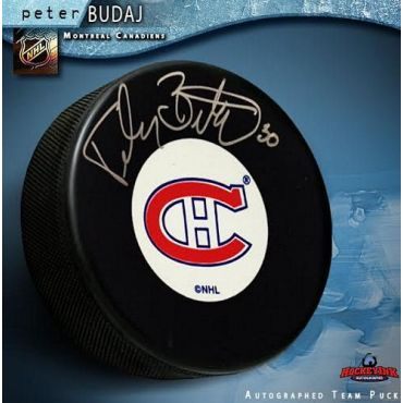 Peter Budaj Montreal Canadiens Autographed Hockey Puck