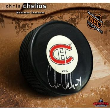 Chris Chelios Montreal Canadiens Autographed Hockey Puck