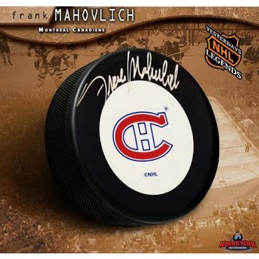 Frank Mahovlich Montreal Canadiens Autographed Hockey Puck