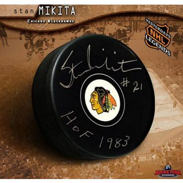 Stan Mikita Chicago Blackhawks Autographed Hockey Puck