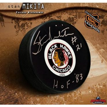 Stan Mikita Chicago Blackhawks Original 6 Autographed Hockey Puck