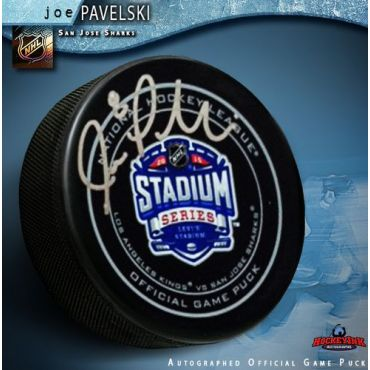 Joe Pavelski San Jose Sharks Autographed Stadium Series 2015 Official Game Hockey Puck