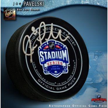Joe Pavelski San Jose Sharks Autographed Stadium Series 2015 Official Game Hockey Puck