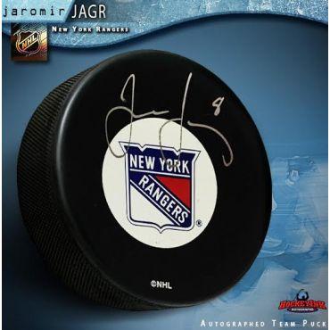 Jaromir Jagr New York Rangers Autographed Hockey Puck