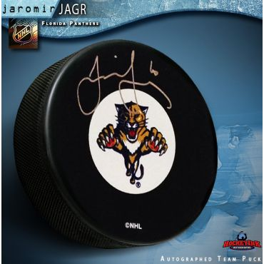 Jaromir Jagr Florida Panthers Autographed Hockey Puck
