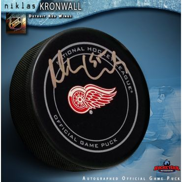 Niklas Kronwall Detroit Red Wings Autographed Official Game Hockey Puck