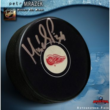 Petr Mrazek Detroit Red Wings Autographed Hockey Puck