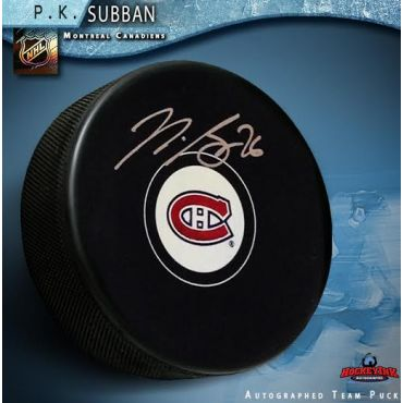 Pernell Karl Subban Montreal Canadiens Autographed Hockey Puck