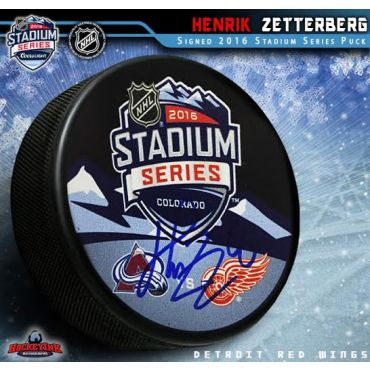 Henrik Zetterberg Autographed 2016 Stadium Series Hockey Puck