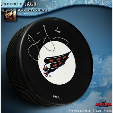 Jaromir Jagr Washington Capitals Autographed Hockey Puck