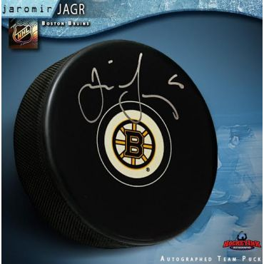 Jaromir Jagr Boston Bruins Autograph Style Hockey Puck