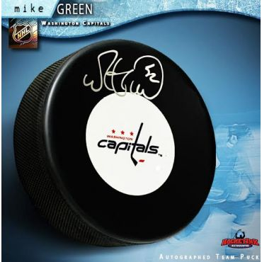 Mike Green Washington Capitals Autographed Hockey Puck