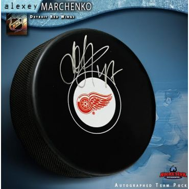 Alexey Marchenko Detroit Red Wings Autographed Hockey Puck