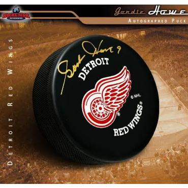Gordie Howe Autographed Detroit Red Wings Hockey Puck