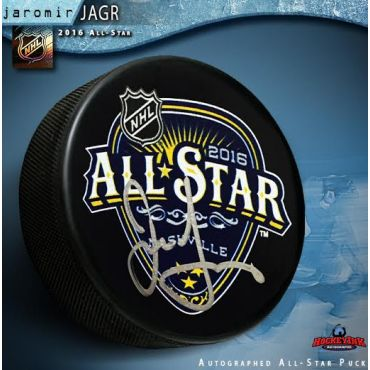 Jaromir Jagr Autographed 2016 NHL All Star Game Souvenir Puck