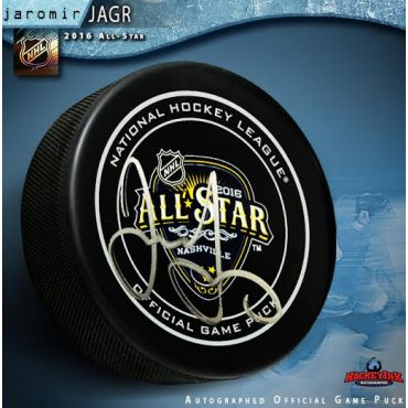 Jaromir Jagr Autographed 2016 NHL All Star Game Official Game Puck